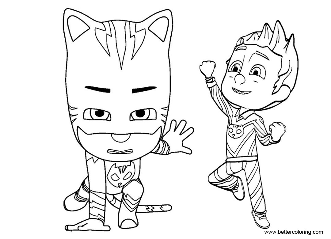 graphic relating to Pj Masks Printable Coloring Pages identified as PJ Masks Catboy Coloring Internet pages Connor Transforms Into Catboy