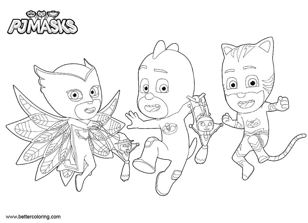 PJ Masks Coloring Pages Characters