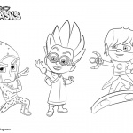 Catboy Coloring Pages PJ Masks Characters - Free Printable ...