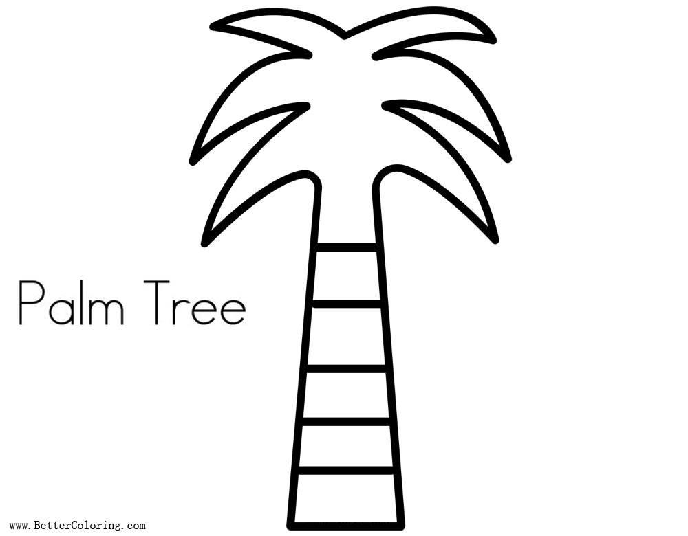 Free Palm Tree Coloring Pages Coconut Tree printable