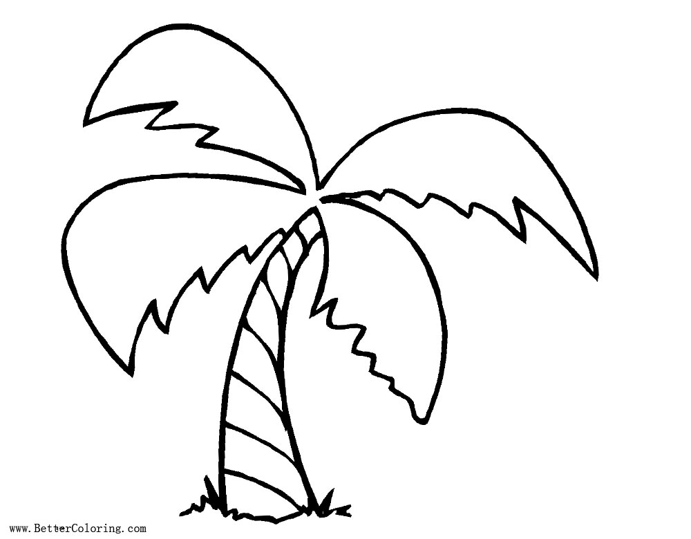 Palm Tree Coloring Pages Line Drawing Free Printable Coloring Pages - Palm-tree-coloring-page