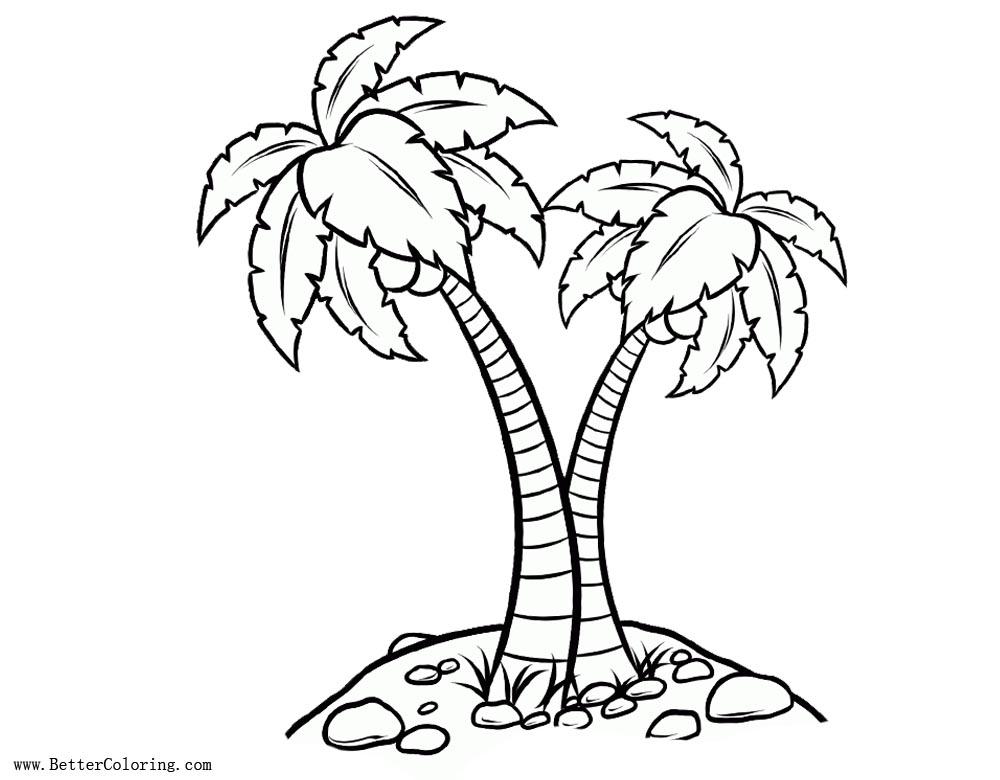 Paginas Para Colorear De Otono Dibujos Para Pintar Arbol: Palm Tree Coloring Pages Realistic Drawing