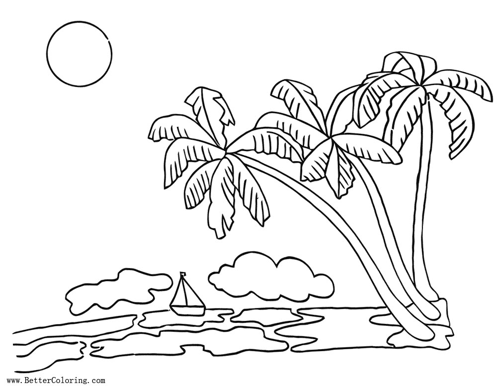 Christmas Palm Tree Page Coloring Pages