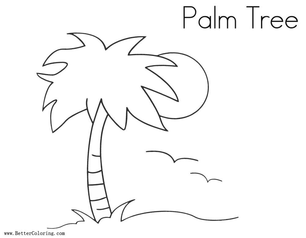 Free Palm Tree Coloring Pages printable