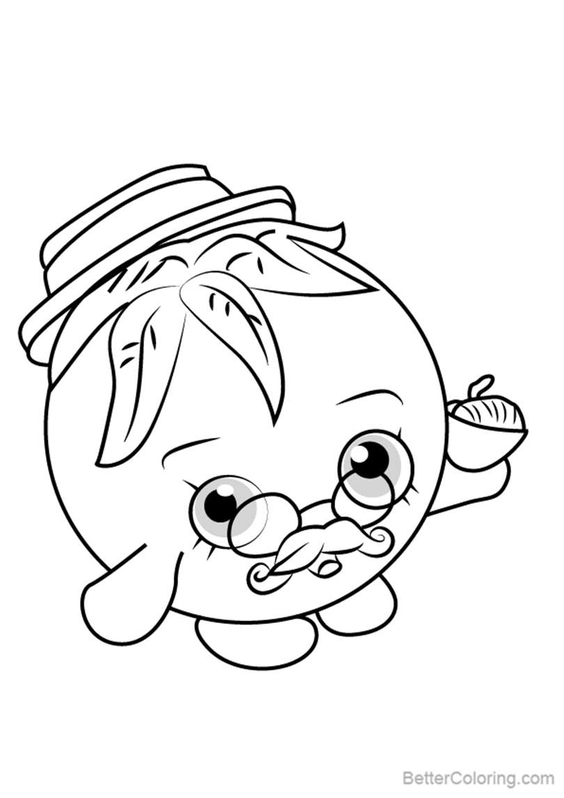Free Papa Tomato from Shopkins Coloring Pages printable