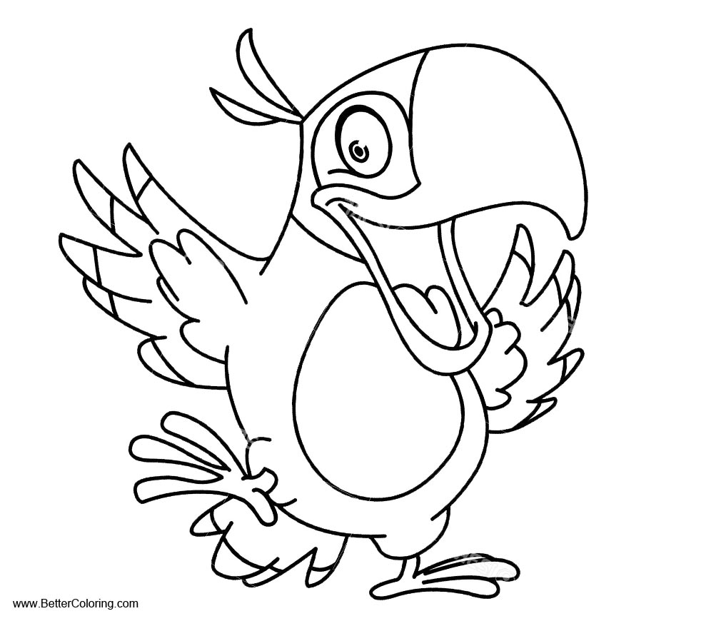 Free Parrots Coloring Pages Clipart printable