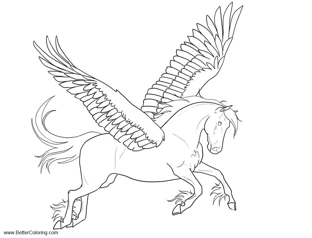 Pegasus Alicorn Coloring Pages Free Printable Coloring Pages
