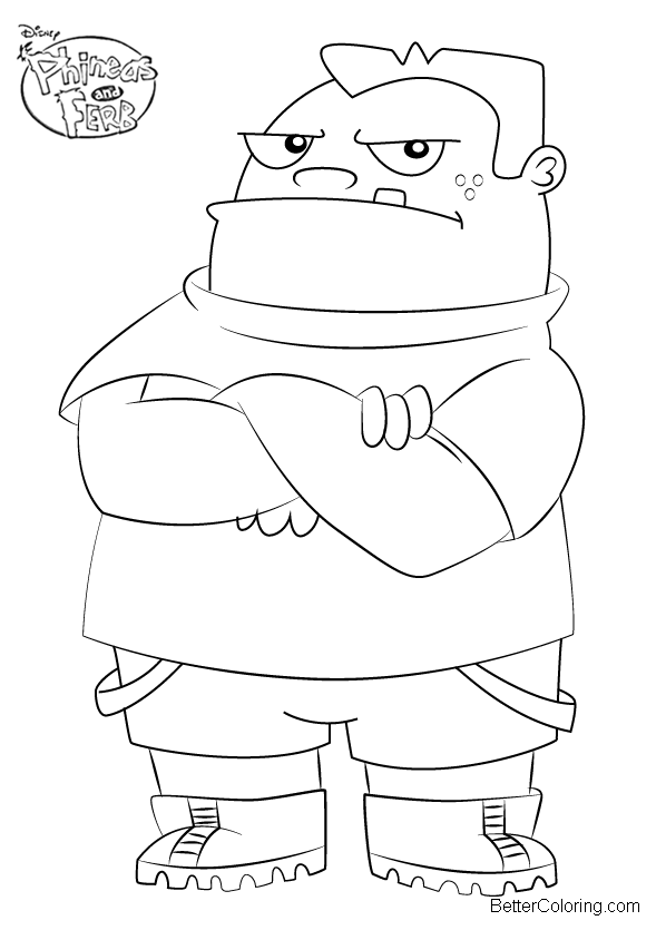 Phineas and Ferb Coloring Pages Buford van Stomm - Free Printable ...