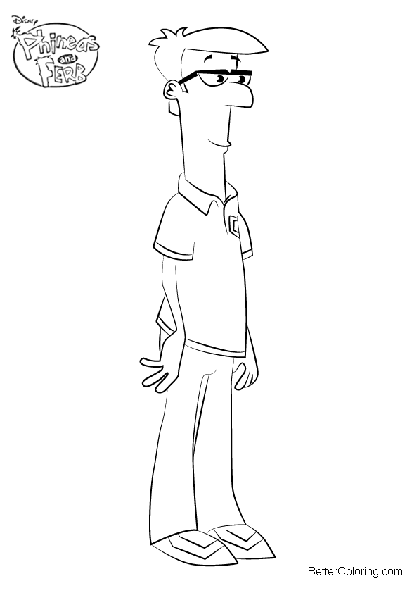 Phineas And Ferb Coloring Pages Lawrence Fletcher Free