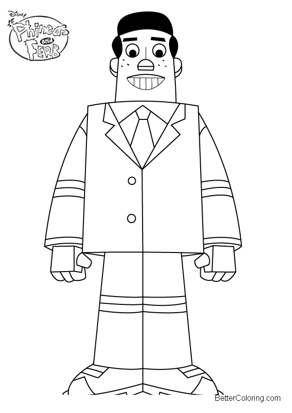Phineas and Ferb Coloring Pages Norm - Free Printable Coloring Pages