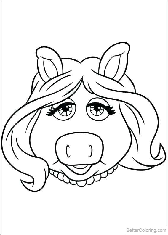 Free Piggy from Muppet Babies Coloring Pages printable