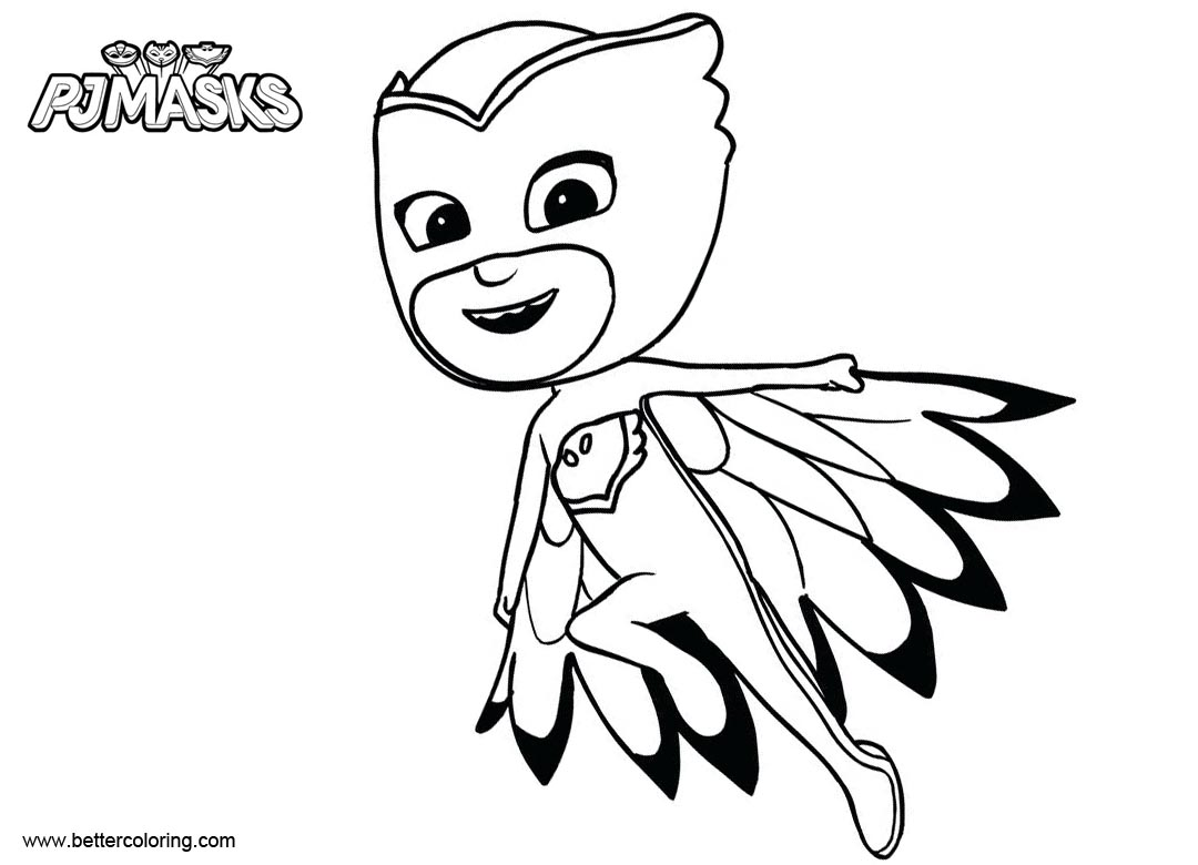 Pj Masks Coloring Pages Night Ninja - Free Printable Coloring Pages