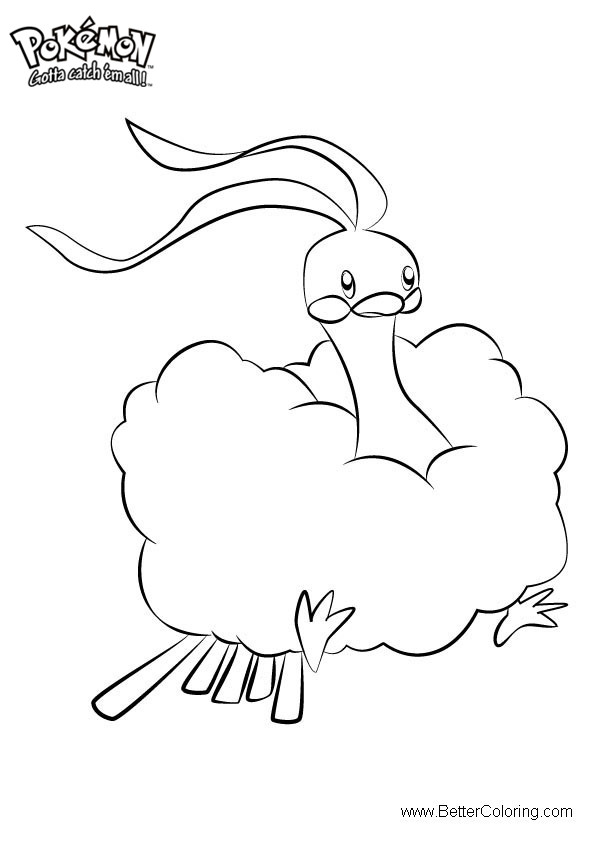 Free Pokemon Coloring Pages Altaria printable