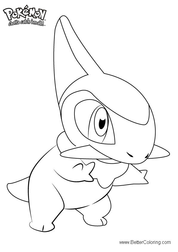 Free Pokemon Coloring Pages Axew printable