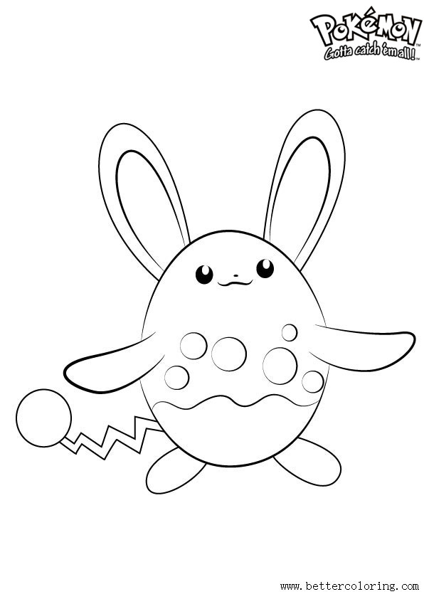 Free Pokemon Coloring Pages Azumarill printable
