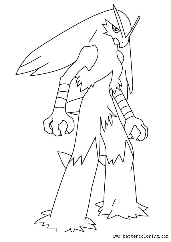 coloring pages blaziken - photo#7