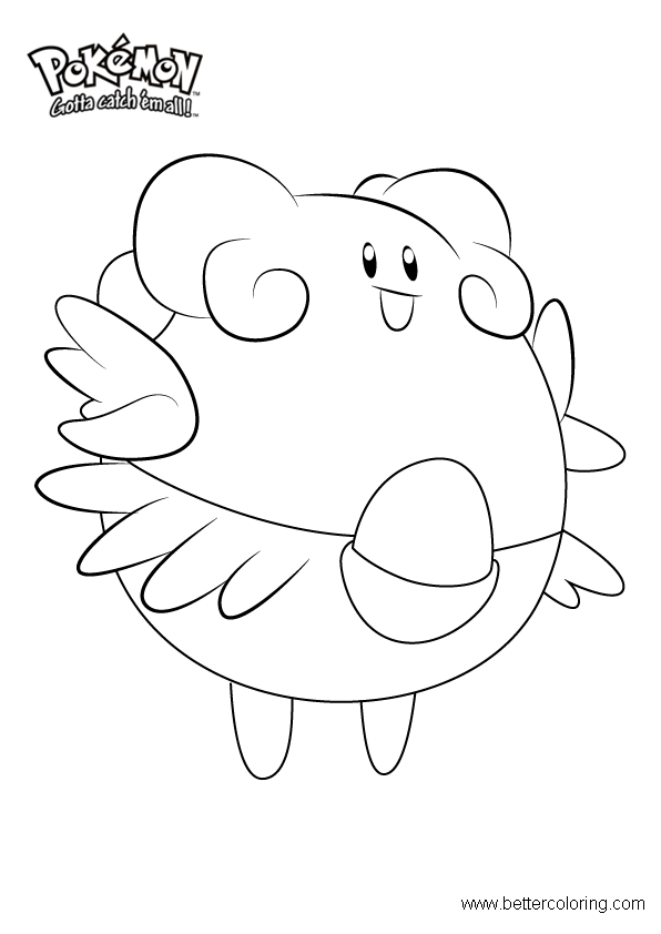 Free Pokemon Coloring Pages Blissey printable