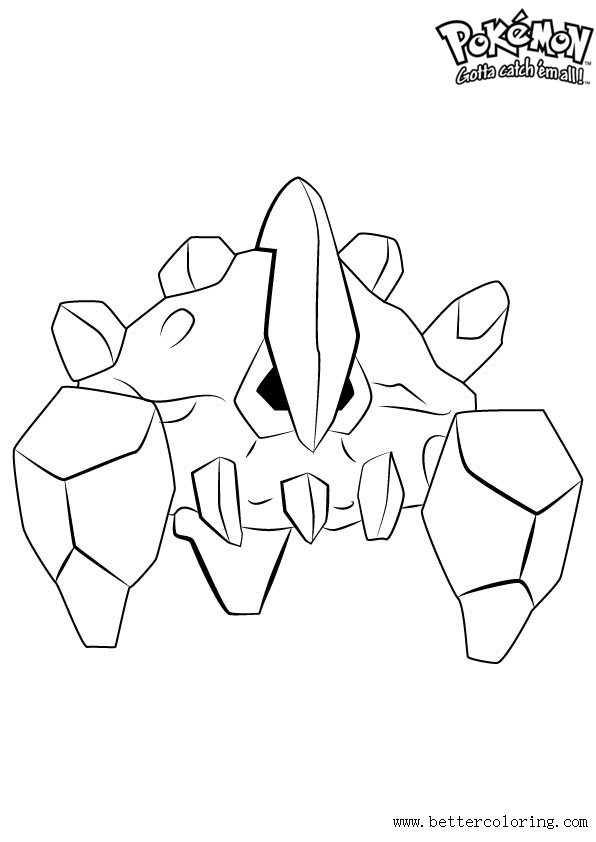 Pokemon Coloring Pages Boldore