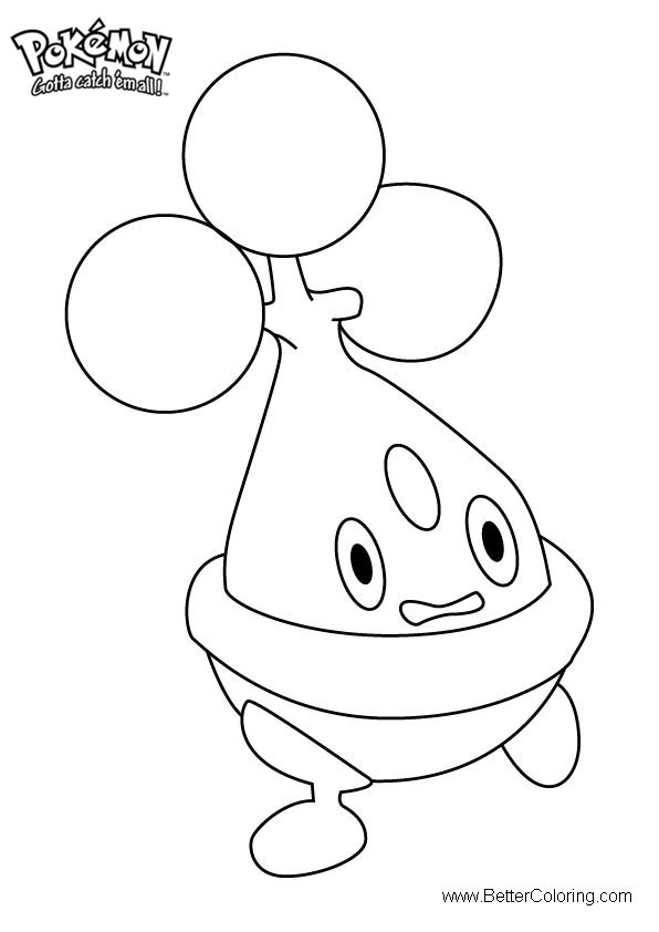Free Pokemon Coloring Pages Bonsly printable