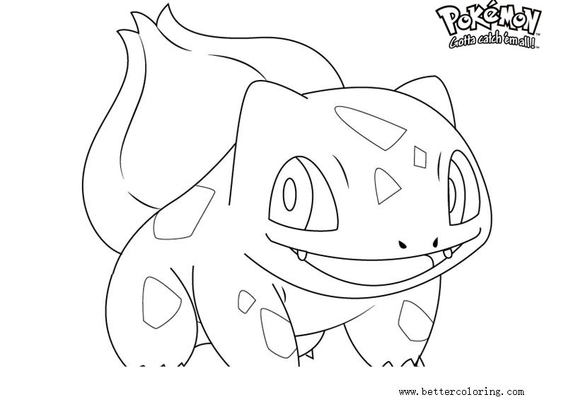 Free Pokemon Coloring Pages Bulbasaur printable