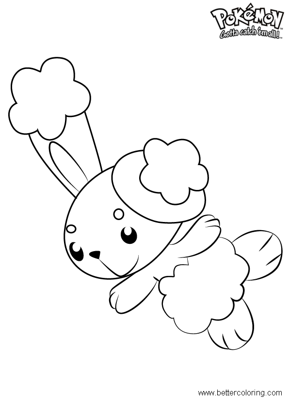 Free Pokemon Coloring Pages Buneary printable