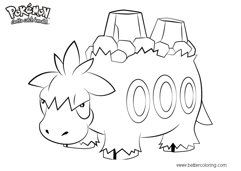 Free Pokemon Coloring Pages Camerupt printable
