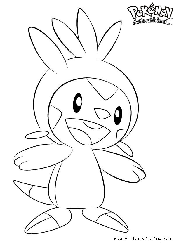 Free Pokemon Coloring Pages Chespin printable
