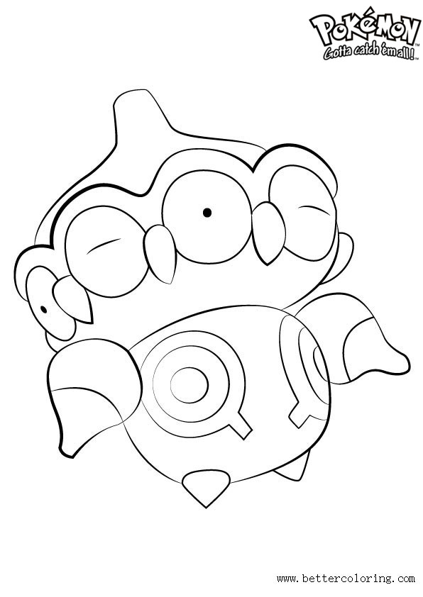 Free Pokemon Coloring Pages Claydol printable