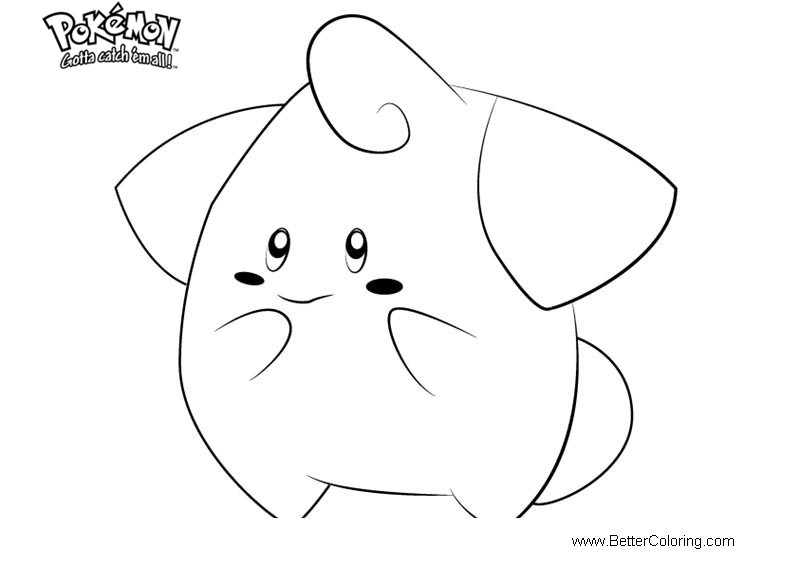 Free Pokemon Coloring Pages Cleffa printable