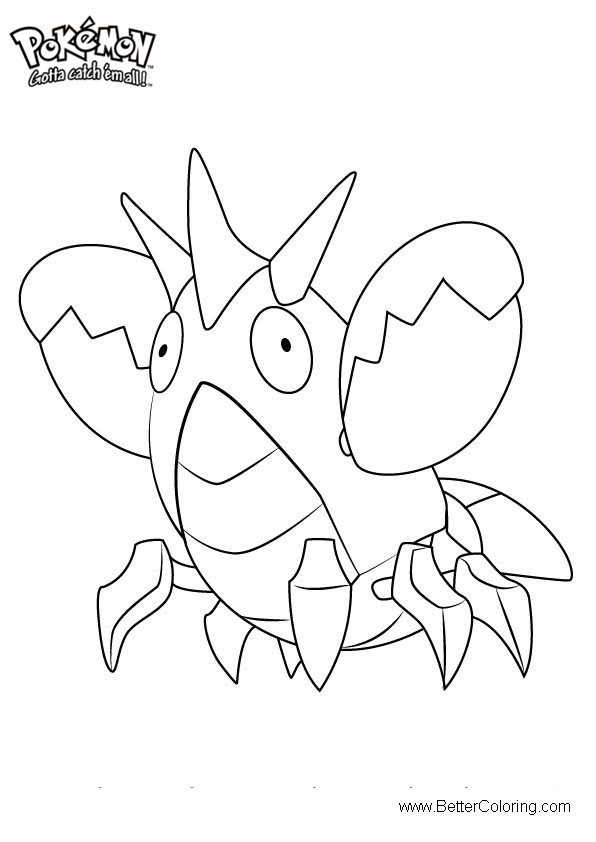 Free Pokemon Coloring Pages Corphish printable