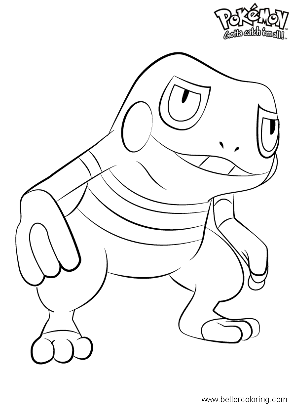 Free Pokemon Coloring Pages Croagunk printable