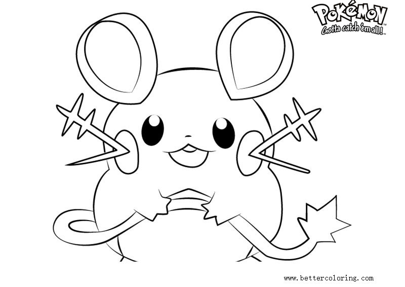 free pokemon coloring pages dedenne printable for kids and adults