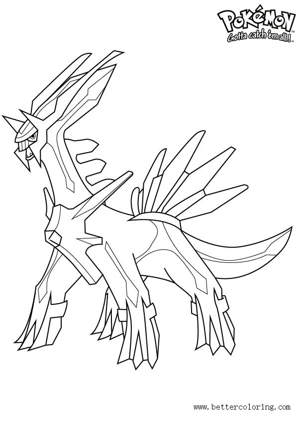Free Pokemon Coloring Pages Dialga printable