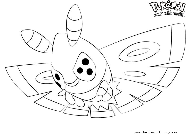 Free Pokemon Coloring Pages Dustox printable