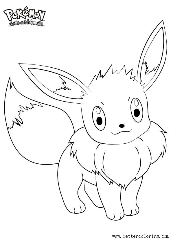 Free Pokemon Coloring Pages Eevee printable
