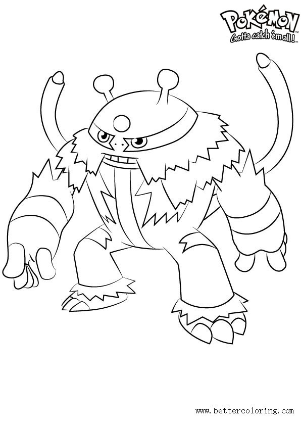 Free Pokemon Coloring Pages Electivire printable