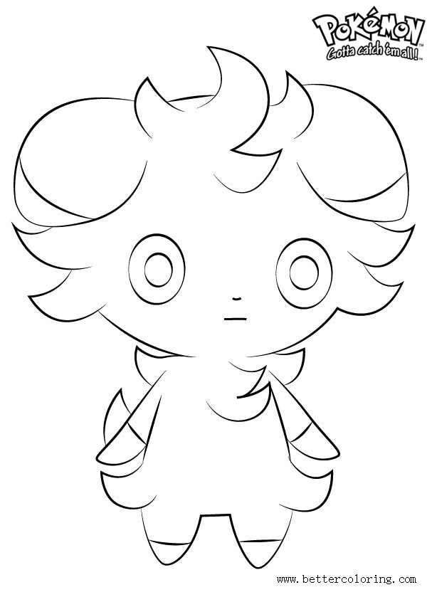Free Pokemon Coloring Pages Espurr printable