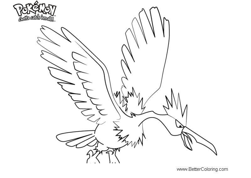 Free Pokemon Coloring Pages Fearow printable