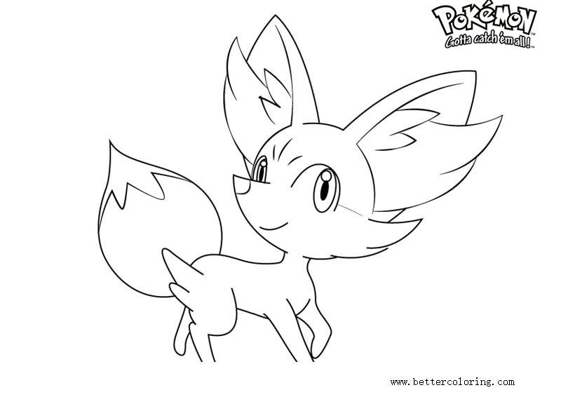 Pokemon fennekin coloring pages ~ Pokemon Coloring Pages Fennekin - Free Printable Coloring ...