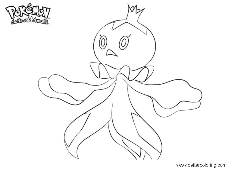 Free Pokemon Coloring Pages Frillish printable