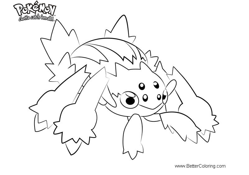 Free Pokemon Coloring Pages Galvantula printable