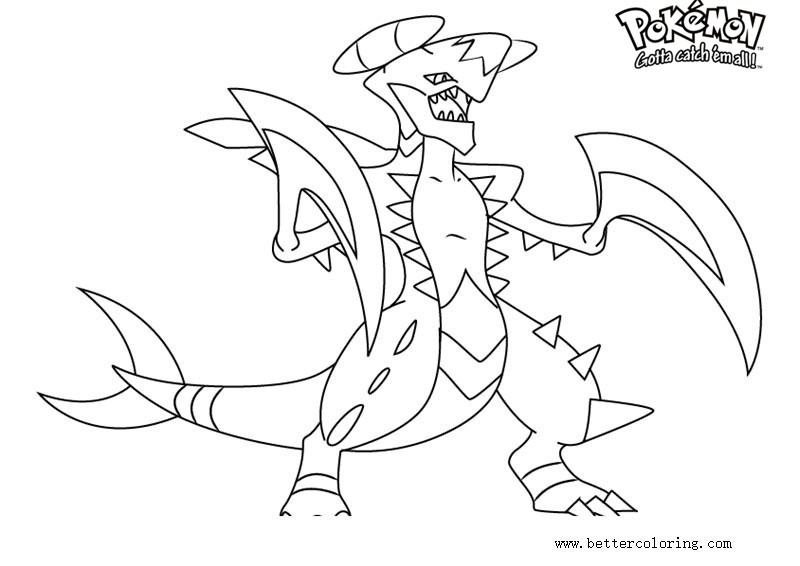free pokemon coloring pages garchomp printable for kids and adults