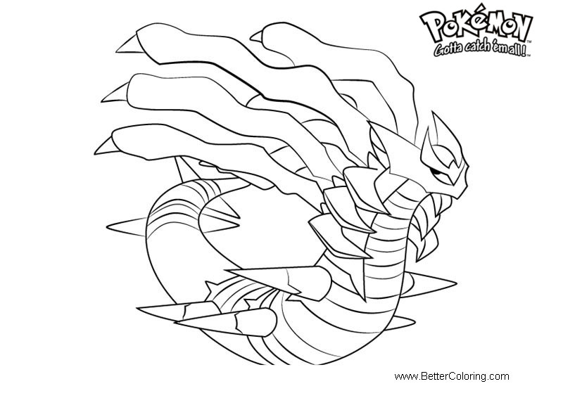 free pokemon coloring pages giratina printable for kids and adults