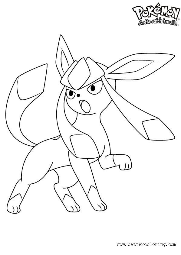 Free Pokemon Coloring Pages Glaceon printable