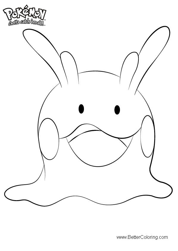 Free Pokemon Coloring Pages Goomy printable