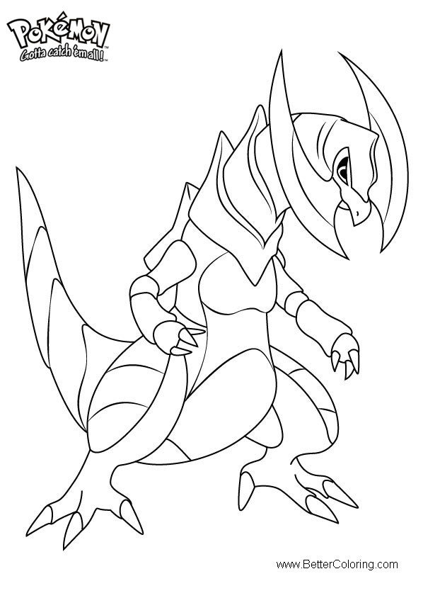 Free Pokemon Coloring Pages Haxorus printable