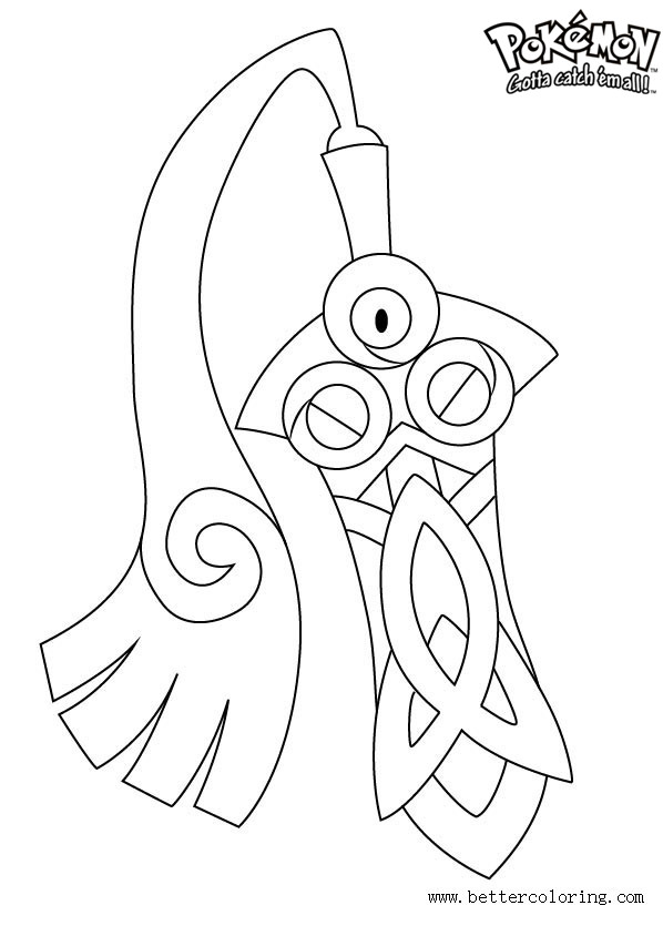 Free Pokemon Coloring Pages Honedge printable
