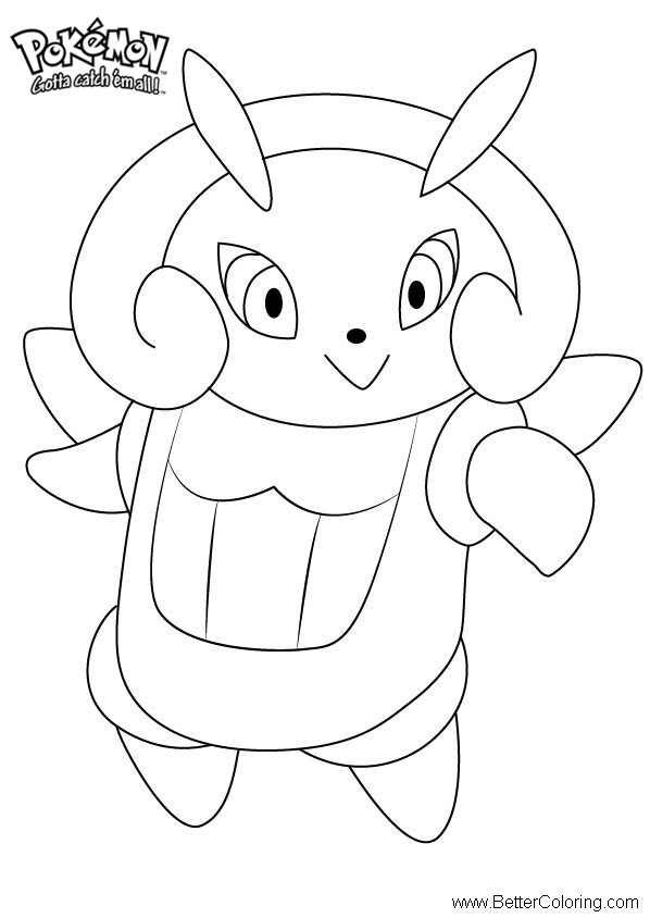 Free Pokemon Coloring Pages Illumise printable