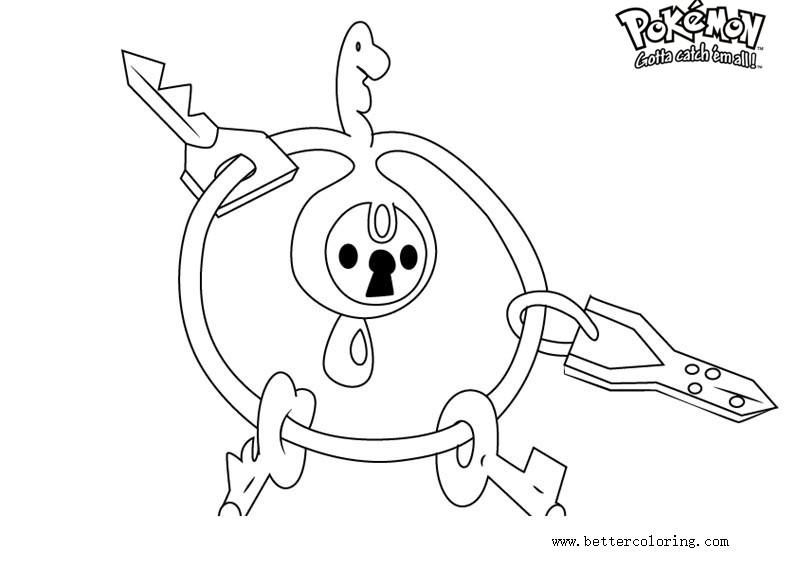 Free Pokemon Coloring Pages Klefki printable