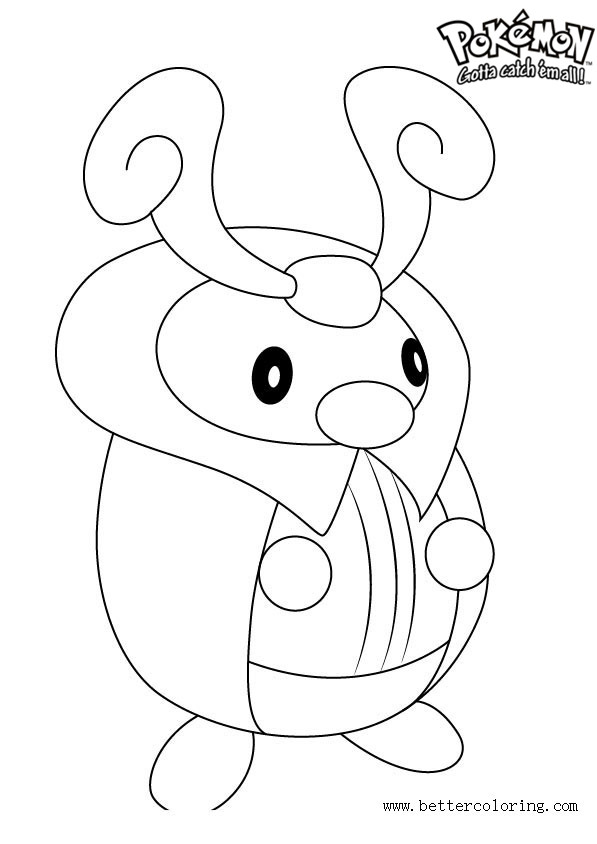 Free Pokemon Coloring Pages Kricketot printable